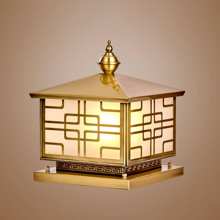 Đèn trụ trang trí cột cổng, giúp chiếc cổng nhà bạn trở nên  sang trọng