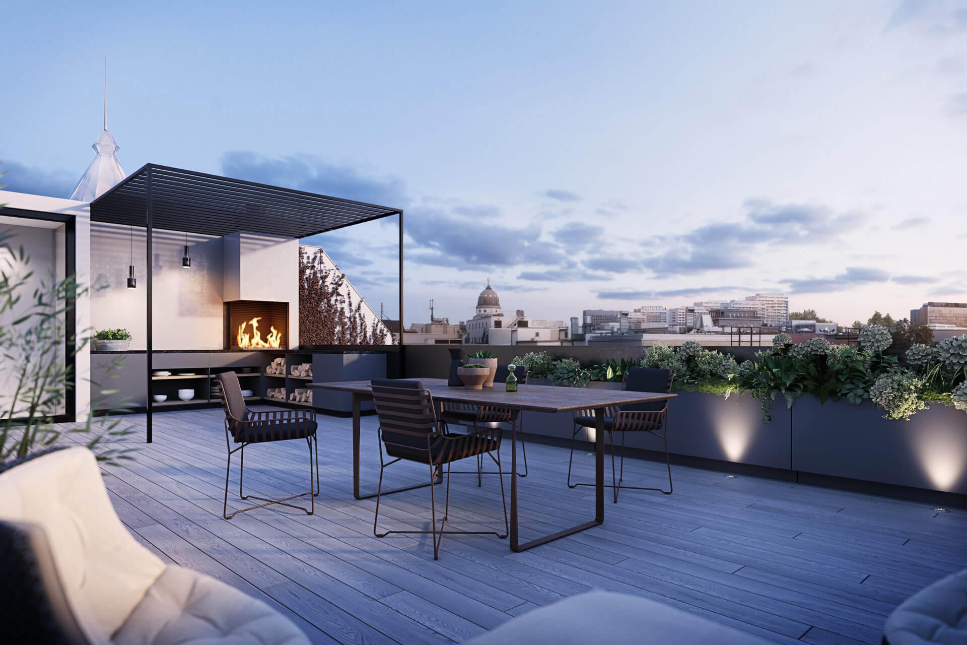 Sân thượng - nơi bạn có thể đón nắng, đón gió và đắm mình vào sự thư thái, nhẹ nhàng