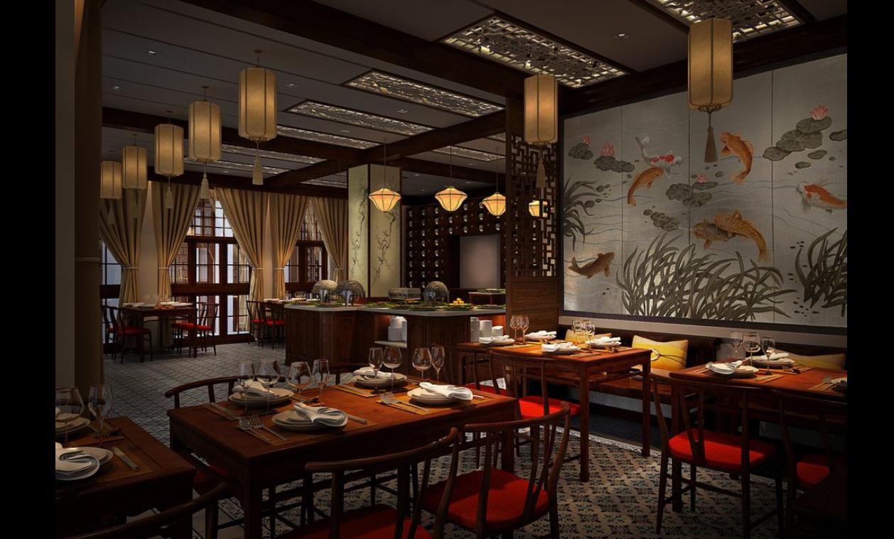Sử dụng đèn trang trí nhà hàng làm cho không gian thêm đẹp mắt, ấn tượng