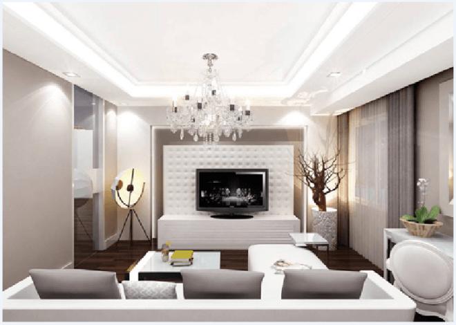 Đèn chùm - mẫu đèn thích hợp cho những phòng khách rộng lớn