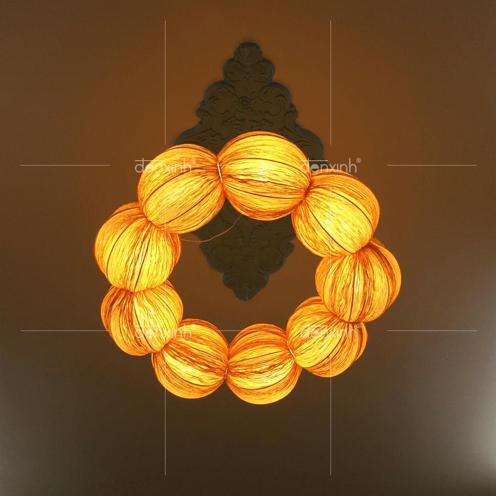 Đèn treo/áp tường chuỗi ngọc trai 9 hạt
