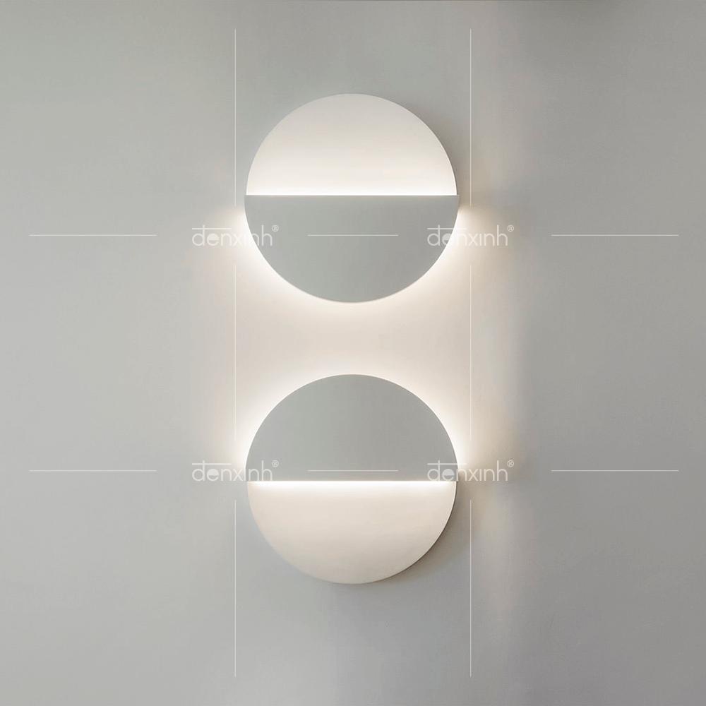 Đèn áp tường đĩa tròn nhật nguyệt