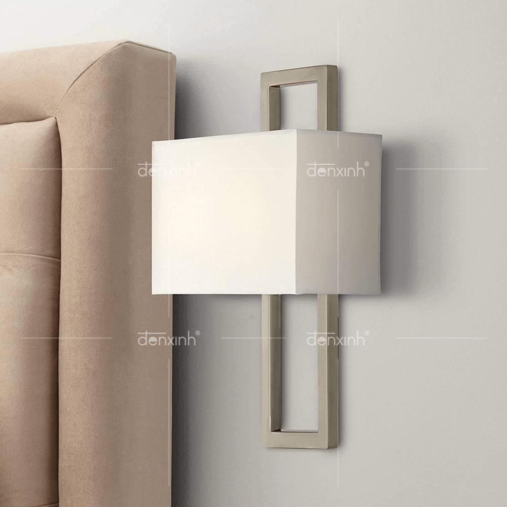 Đèn hình hộp đế inox chữ nhật áp tường